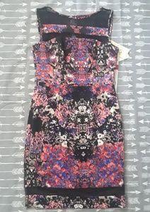 Sangria Multicolor Floral Pencil Dress Size 8 M